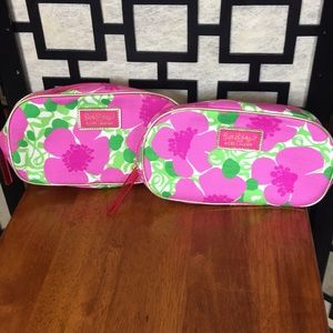 Lilly Pulitzer floral cosmetic bag pair